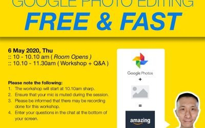 Online Workshop Google Photos editing app – 6 May 2020